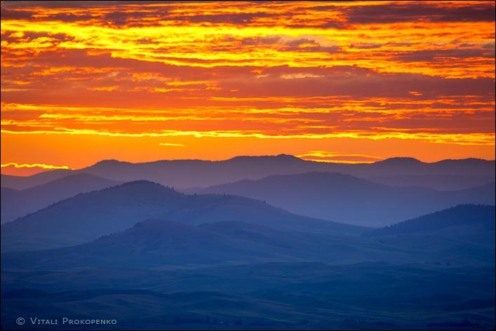 Sunset in Palouse