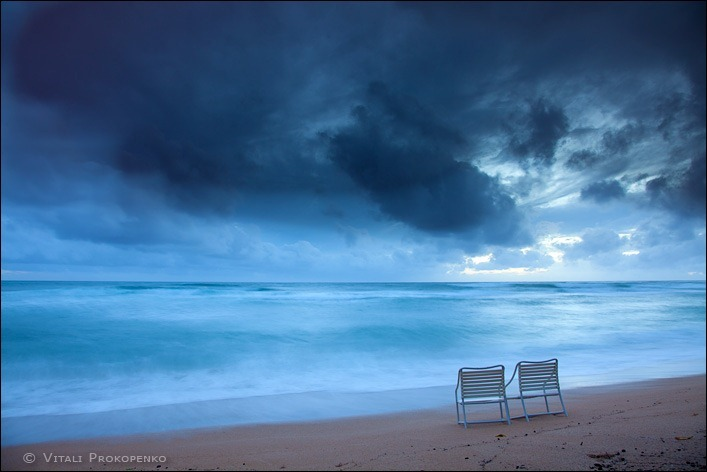 Kauai. Early Morning. Storm is coming