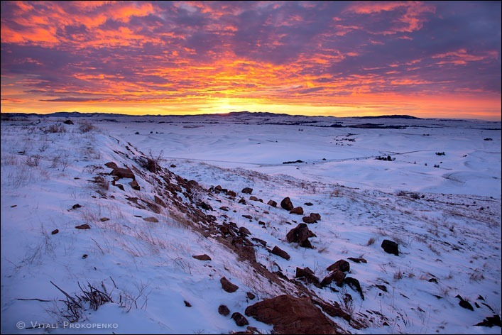 Winter Sunrise in Palouse