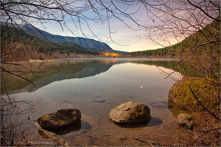 Rattlesnake Lake in Moonlight #1