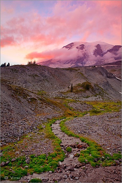Sunset at Mt Rainier